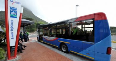 My Citi Bus at the Lower Tafelberg Station,Table Mountain, Cape Town